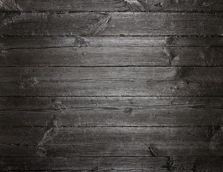 Photo pour Black dark painted old wood texture background - image libre de droit