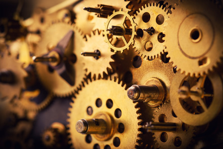 Vintage gears and cogs macro