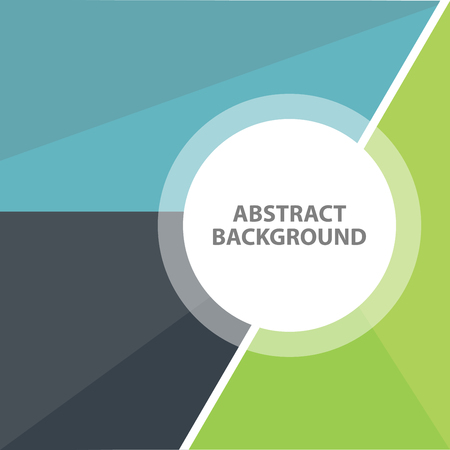 Blue Green black Business Abstract background. Presentation template flat design