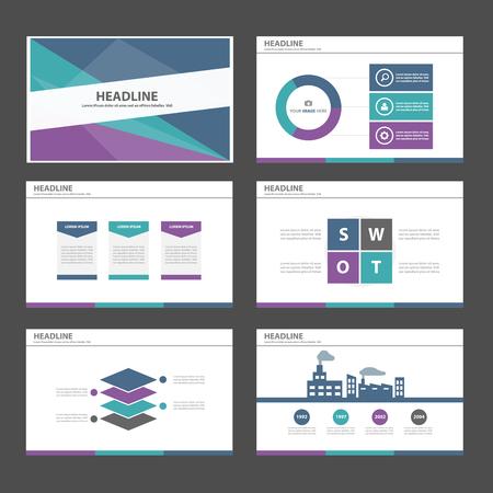Ilustración de Purple green blue Multipurpose Infographic elements and icon presentation template flat design set for advertising marketing brochure flyer leaflet - Imagen libre de derechos