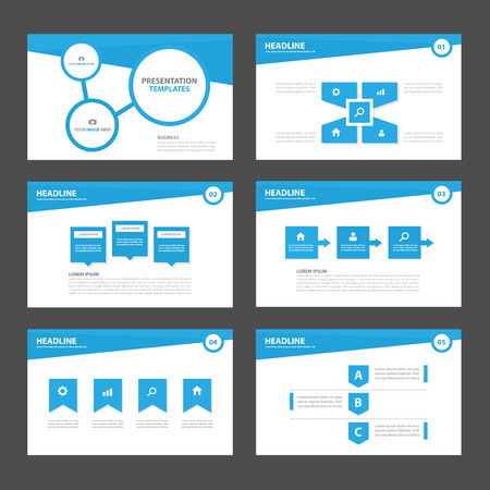 Blue Multipurpose Infographic elements and icon presentation template flat design set for advertising marketing brochure flyer leaflet