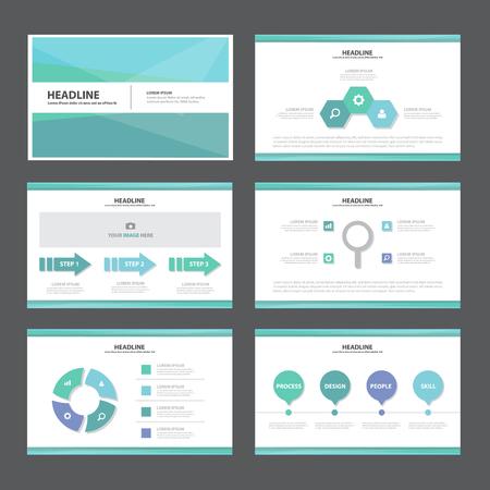 Ilustración de Blue Abstract presentation template Infographic elements flat design set for brochure flyer leaflet marketing advertising - Imagen libre de derechos