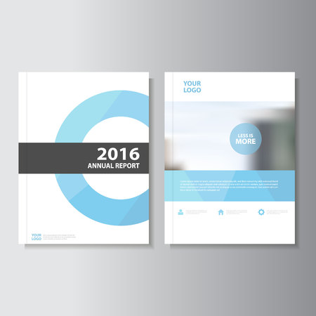 Illustration for Blue Vector annual report Leaflet Brochure Flyer template design, book cover layout design, Abstract blue presentation templates - Royalty Free Image