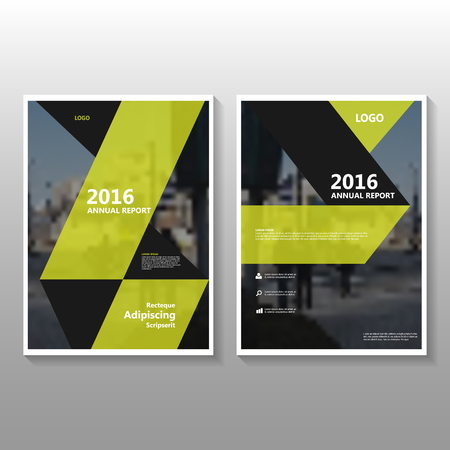 Illustration for Yellow Vector annual report poster Leaflet Brochure Flyer template design, book cover layout design, Abstract yellow presentation templates - Royalty Free Image