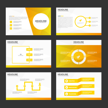 Ilustración de Circle gold presentation templates Infographic elements flat design set for brochure flyer leaflet marketing advertising - Imagen libre de derechos