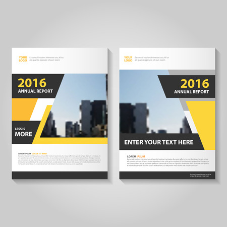 Illustration for Blue annual report Leaflet Brochure template design, book cover layout design, Abstract blue presentation templates - Royalty Free Image