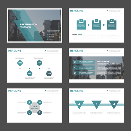 Illustration pour Blue Abstract presentation templates, Infographic elements template flat design set for brochure flyer leaflet marketing advertising banner template - image libre de droit