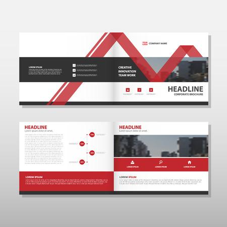 Illustration pour Red Vector annual report Leaflet Brochure Flyer template design, book cover layout design, abstract business presentation template, a4 size design - image libre de droit