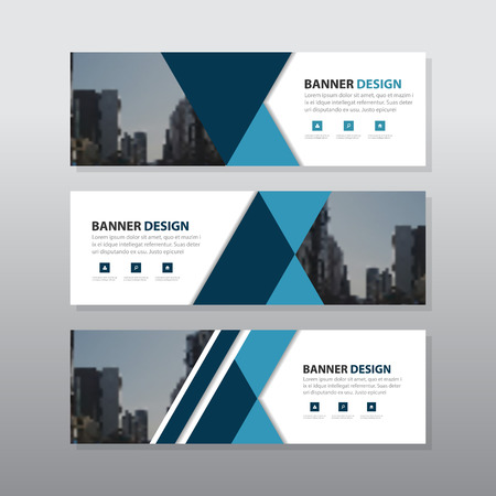 blue black triangle abstract corporate business banner template horizontal advertising business banner layout template flat design set clean abstract