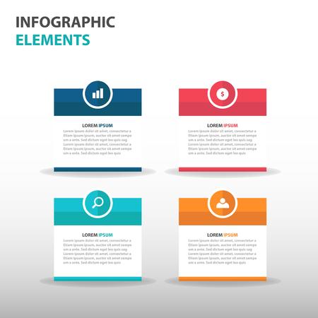 Illustration pour Abstract text box business Infographics elements, presentation template flat design vector illustration for web design marketing advertising - image libre de droit