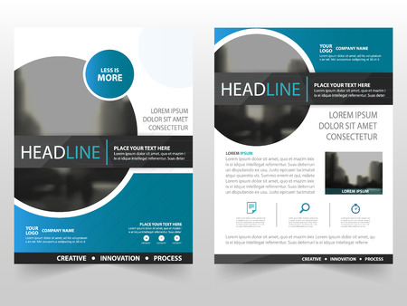 Blue black circle business Brochure Leaflet Flyer annual report template design, book cover layout design, abstract business presentation template, a4 size design