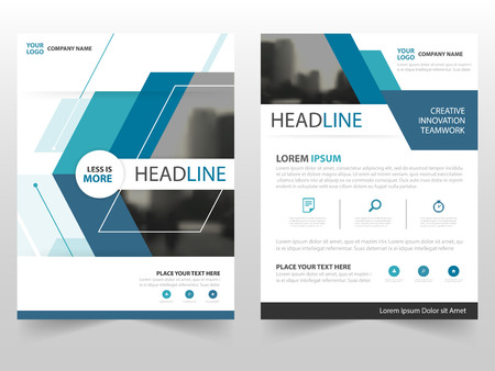 Illustration for Blue technology business Brochure Leaflet Flyer annual report template design, book cover layout design, abstract business presentation template, a4 size design - Royalty Free Image