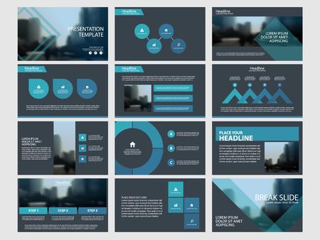 Ilustración de Blue Abstract presentation templates vector illustration. - Imagen libre de derechos