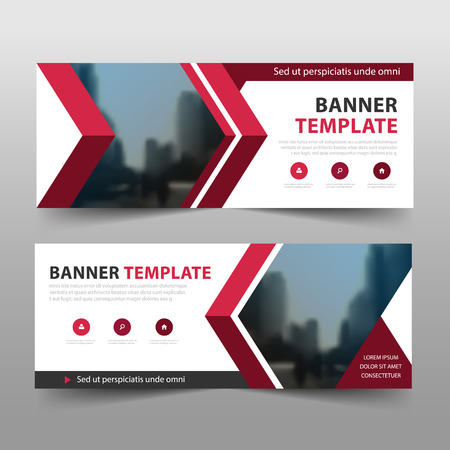 Illustration pour Corporate business banner template, horizontal advertising business banner layout template sign set , clean abstract cover header background for website design - image libre de droit