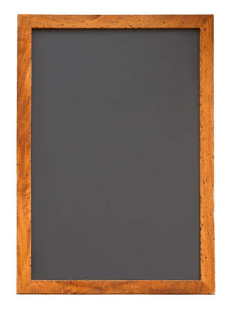 Photo pour Empty vertical chalkboard isolated on white with clipping path - image libre de droit