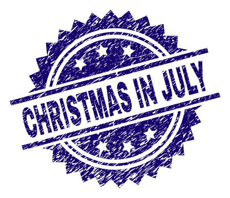 Christmas In July Royalty Free Images.Christmas In July Stamp Seal Watermark With Distress Style