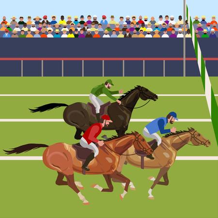 Ilustración de Horse racing competition. Vector illustration - Imagen libre de derechos