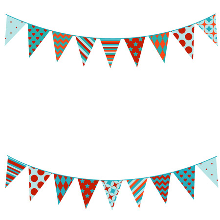 Illustration for Bunting background in flat style. - Royalty Free Image