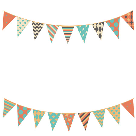 Illustration for Party bunting background in flat style. - Royalty Free Image