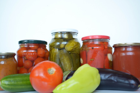 Fresh and canned vegetables