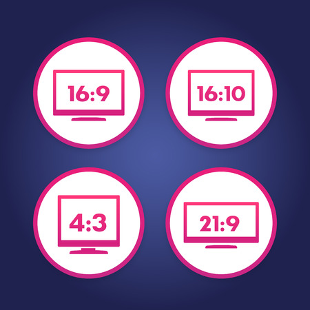 Aspect ratio icons