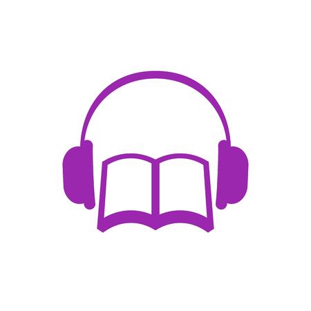 Illustration pour audiobook vector icon - image libre de droit