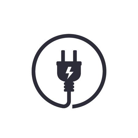Illustration pour Electric plug icon - image libre de droit