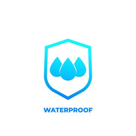 Illustration pour waterproof icon, water resistant vector - image libre de droit