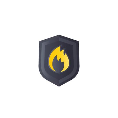 Illustration pour Fire protection vector logo mark - image libre de droit