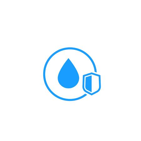 Illustration pour waterproof icon with shield - image libre de droit