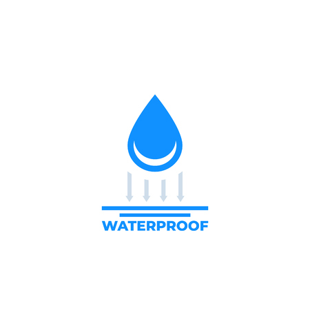 waterproof icon on white