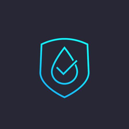 Illustration pour waterproof, water resistant vector icon, linear - image libre de droit