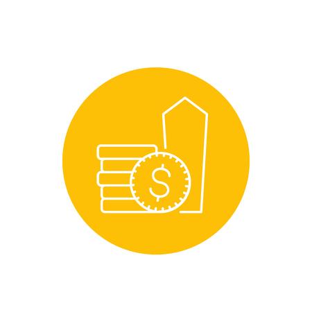 salary raise vector linear icon