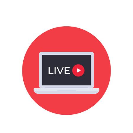 Live stream video, vector