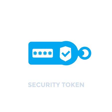 Illustration pour security token on white, vector icon - image libre de droit