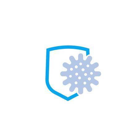Illustration pour antibacterial protection vector icon - image libre de droit