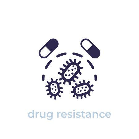 Illustration pour drug resistance icon, vector - image libre de droit