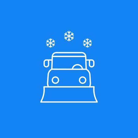 Illustration pour snowplow vector line icon - image libre de droit