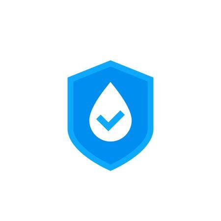 Illustration pour waterproof icon, water resistant vector logo - image libre de droit
