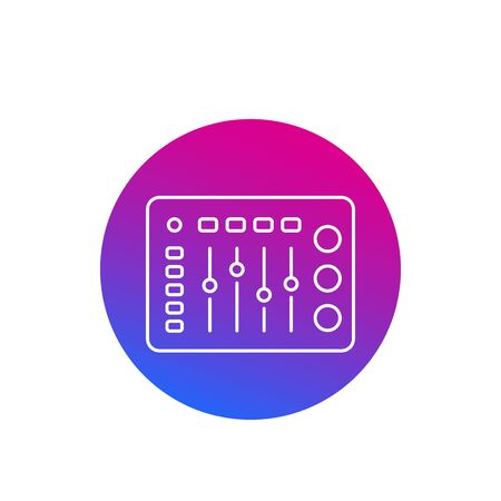 Illustration for control panel icon, linear vector - Royalty Free Image