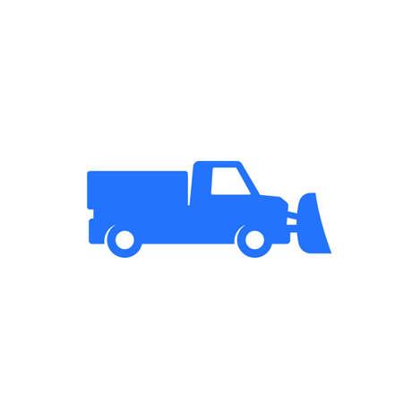Illustration pour snowplow truck icon on white, vector - image libre de droit
