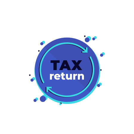 Illustration for tax return, vector icon on white - Royalty Free Image