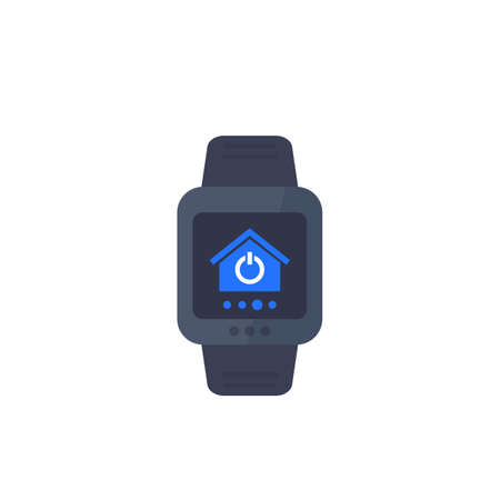 Illustration pour smart home app for smartwatch, vector icon - image libre de droit