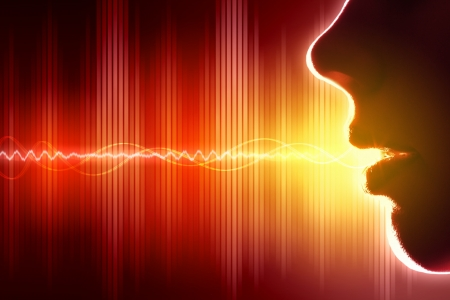 Equalizer sound wave background theme  Colour illustration