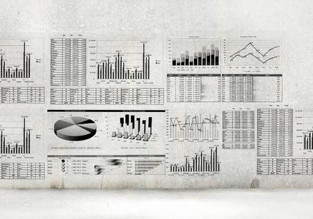 Foto de Financial concept image with hand drawn diagrams and graphs - Imagen libre de derechos