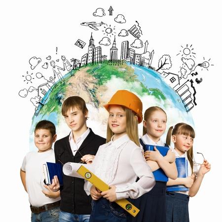 kids of school age  Choosing profession  Elements