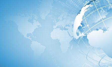 Foto de Blue digital image of globe  Background image - Imagen libre de derechos