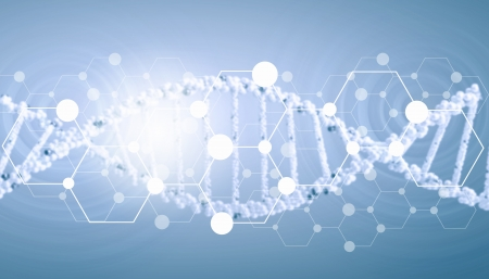 Digital background image with DNA molecules