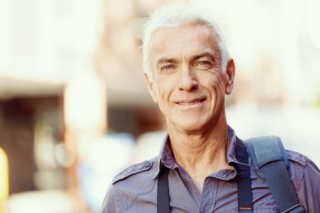 Photo for Portrait of handsome man outdoors - Royalty Free Image