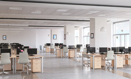 Foto de Modern empty office interior as design sample - Imagen libre de derechos